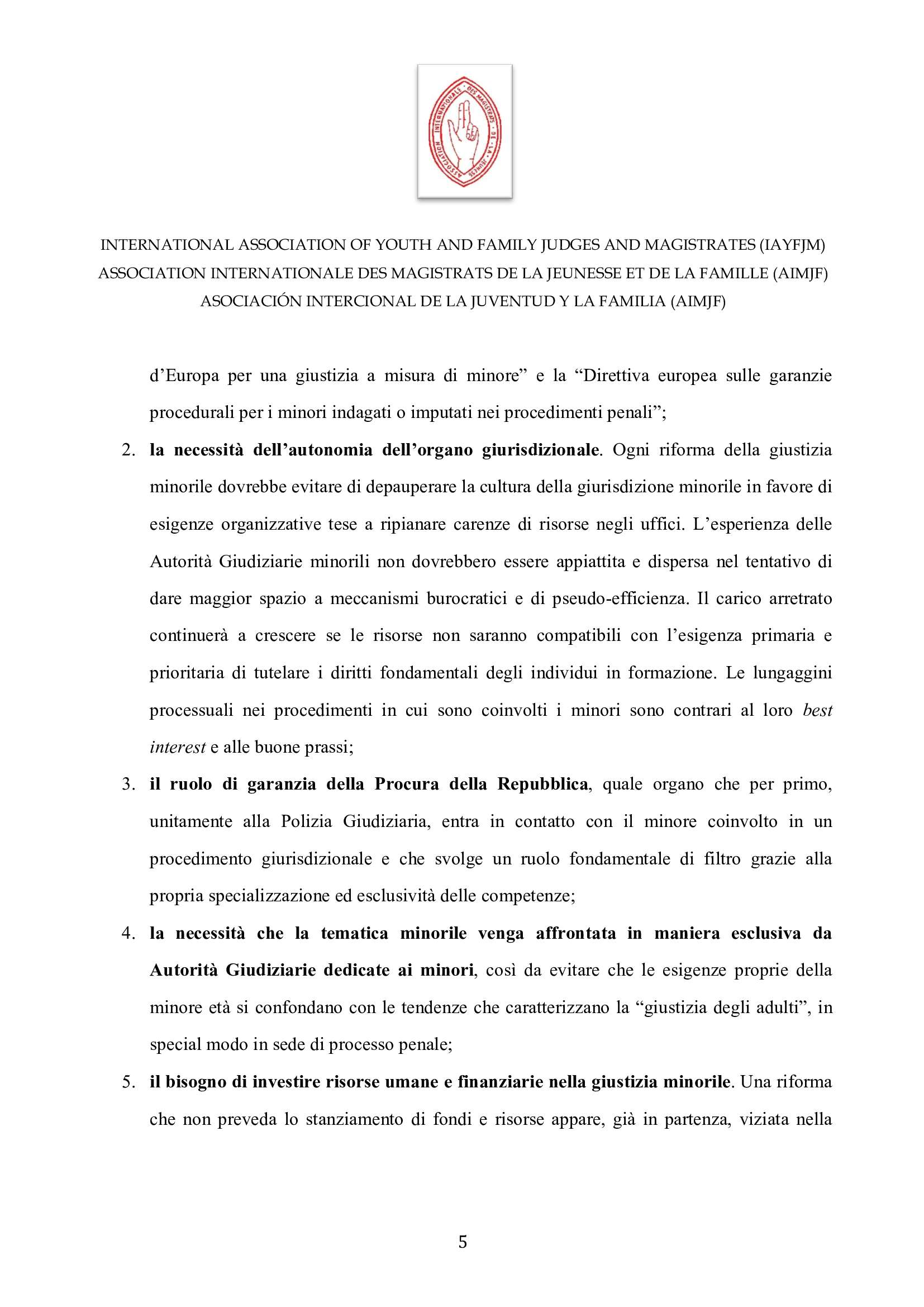 IAYFJM Statement on the Italian Juvenile Justice R 004
