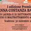 """Premio """"Anna Costanza Baldry"""" per le migliori tesi di laurea e di dottorato in tema di abuso e maltrattamento all'infanzia. I edizione"""